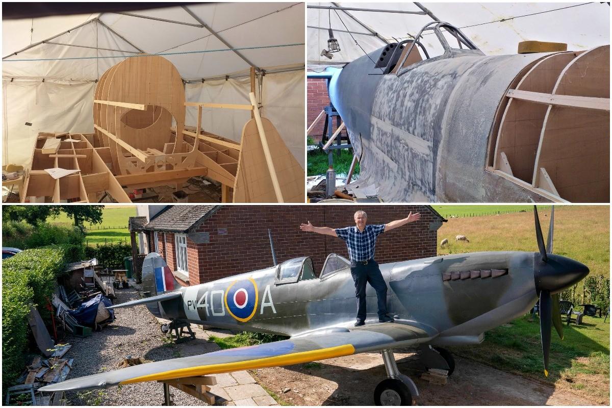 Британец построил полноразмерную копию Spitfire в своем саду