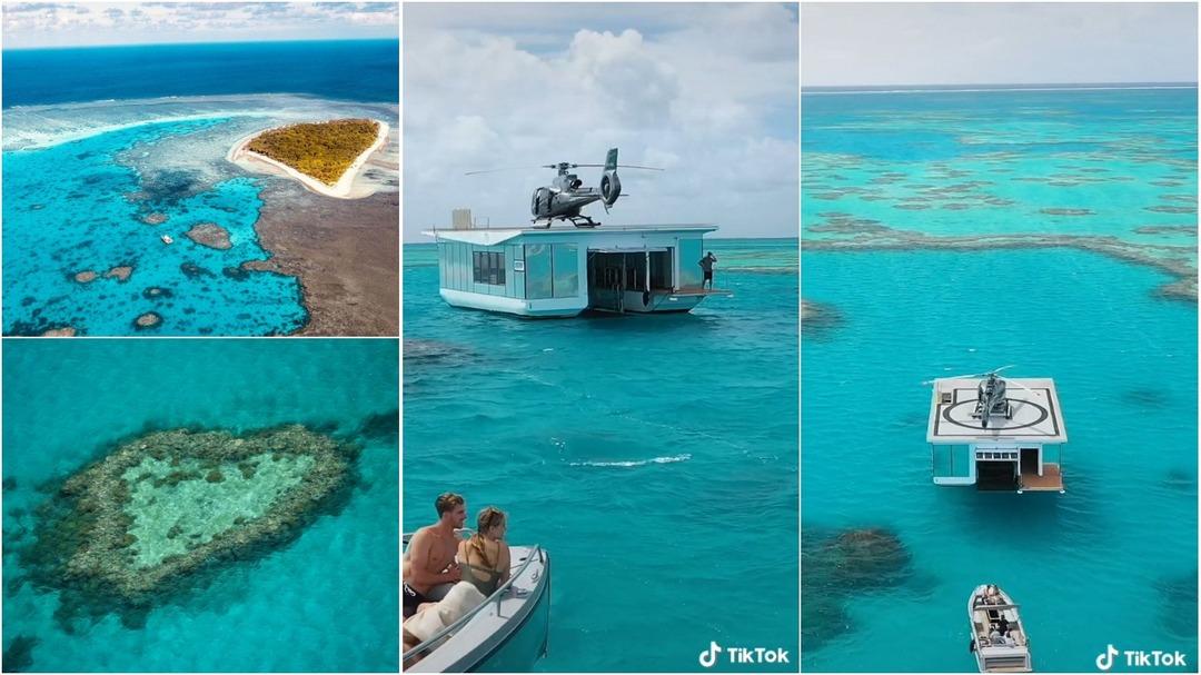 Самый красивый в мире сарай: путешественники бредят понтоном посреди Большого Барьерного рифа