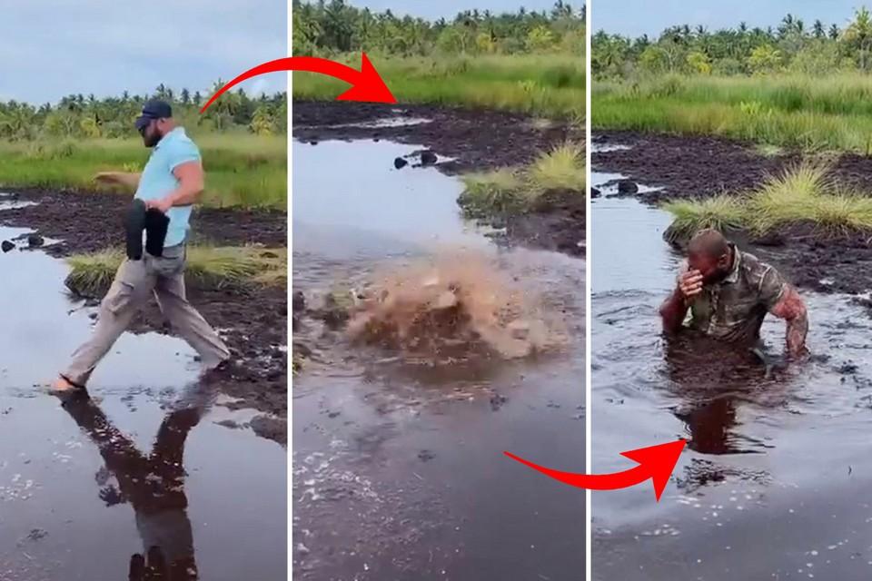 Жена сказала, что знает короткий путь: британский турист чуть не утонул в болоте на Мальдивах