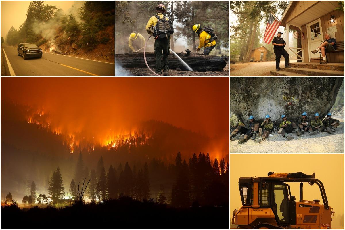 Пожарные изо всех сил пытаются сдержать самый большой пожар в Калифорнии