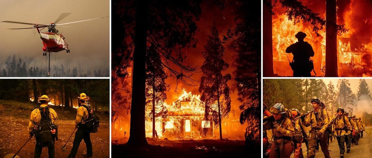 Тысячи людей бегут от пожара Дикси, который сжег 250 тысяч акров земли и разрушил 44 здания