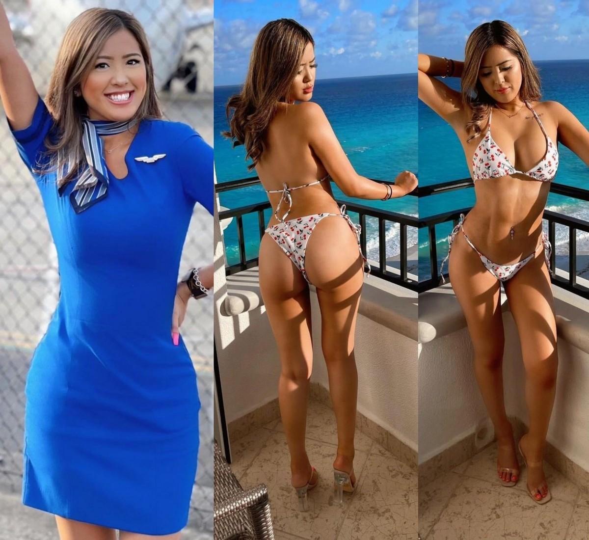 Сексуальные стюардессы в униформе и без неё 05.08.21