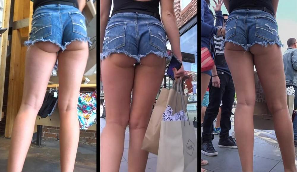 Девушки в обтягивающих джинсах и шортах 08.08.21