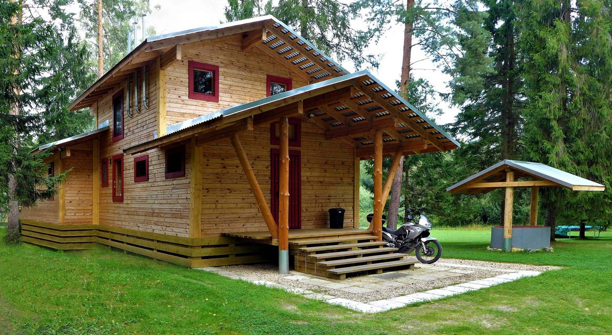 Современный дом из бруса в Подмосковье