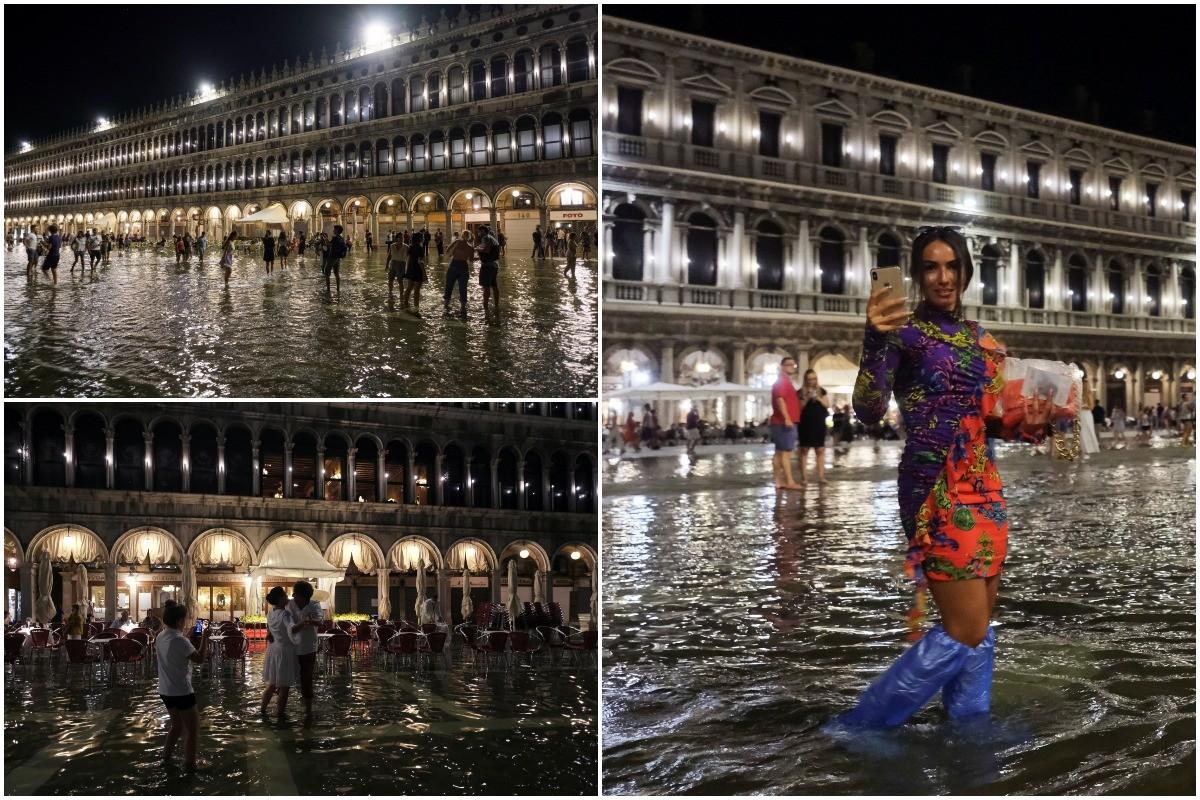 Знаменитая площадь Сан-Марко в Венеции погружена в воду на метр после редкого летнего наводнения