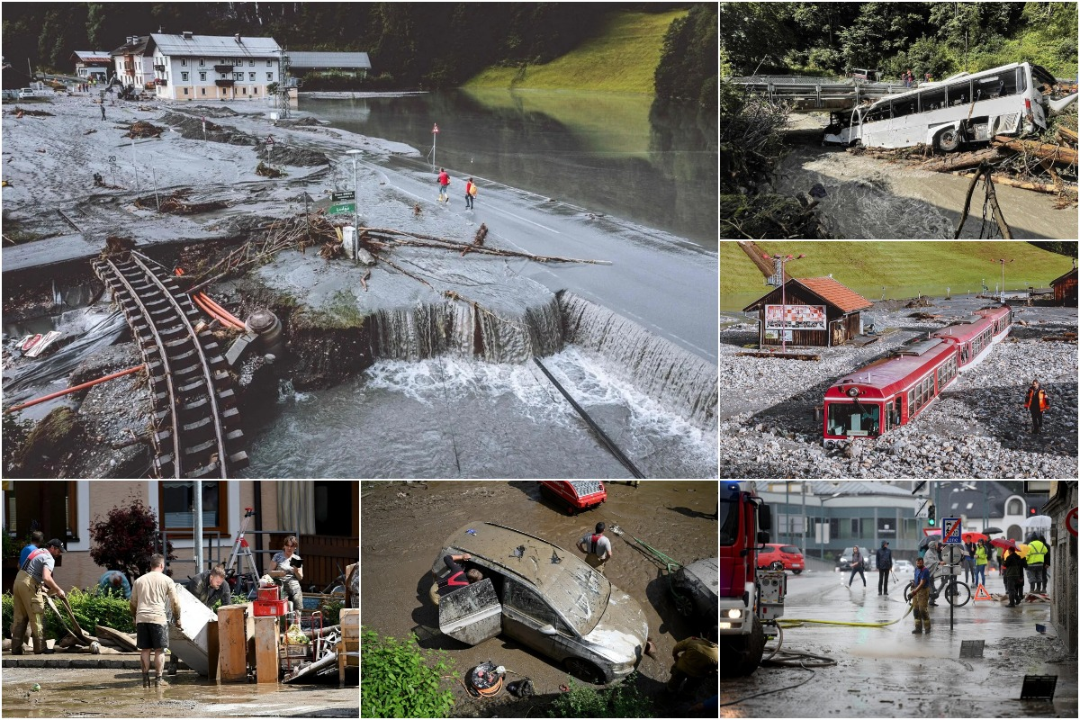 Сильные наводнения и оползни обрушились на Австрию и южную Германию