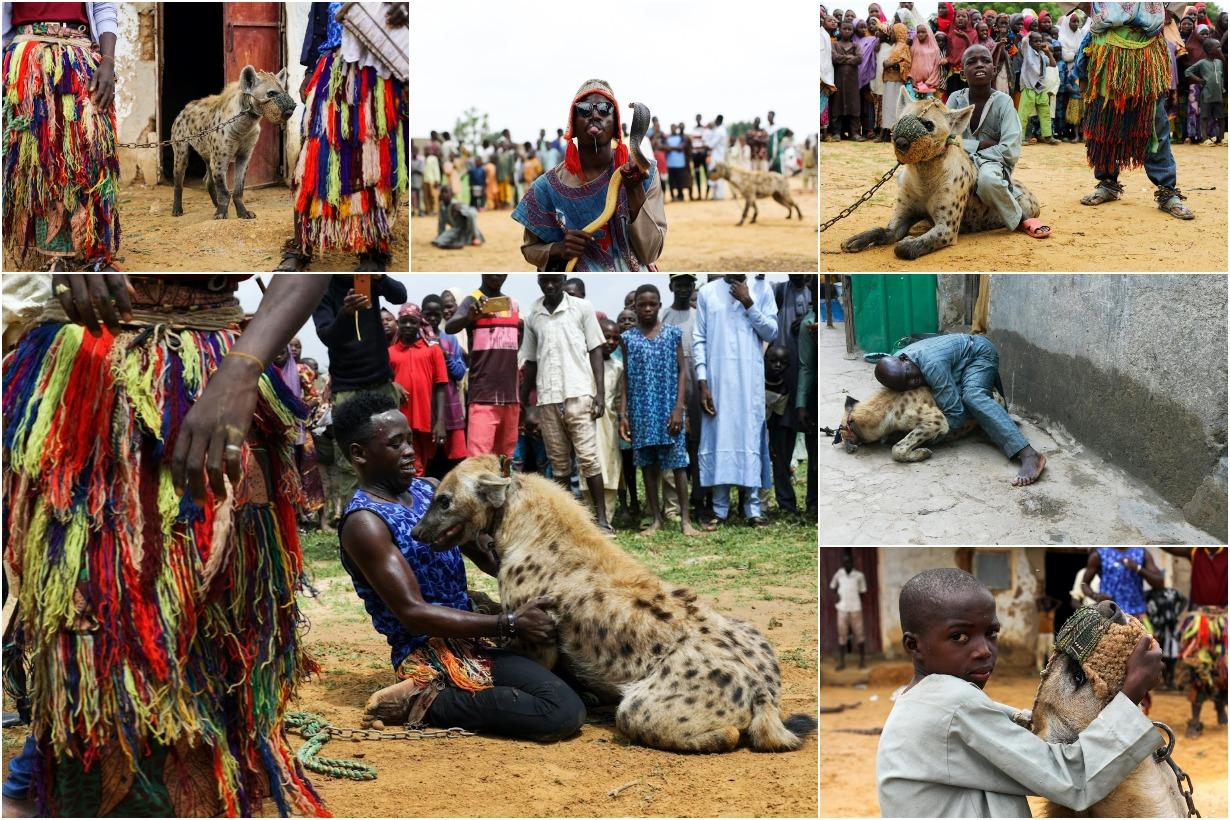 Нигерийские мужчины из рода людей-гиен