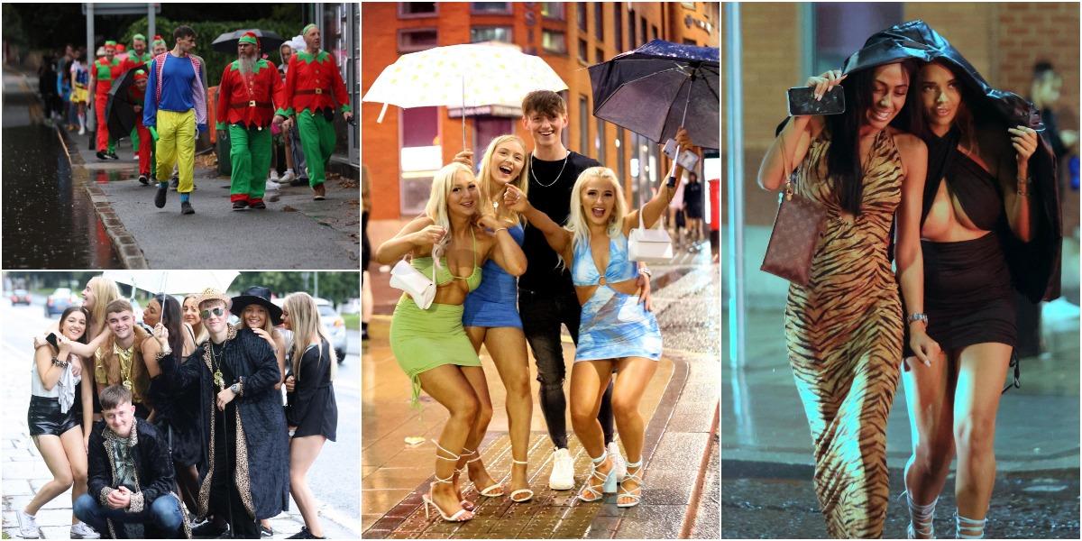 Дождь не остановил британскую молодежь, решившую выпить в уик-энд