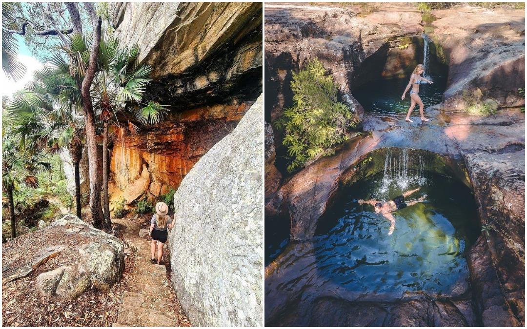 Впечатляющий оазис с бирюзовой водой под водопадом в Австралии