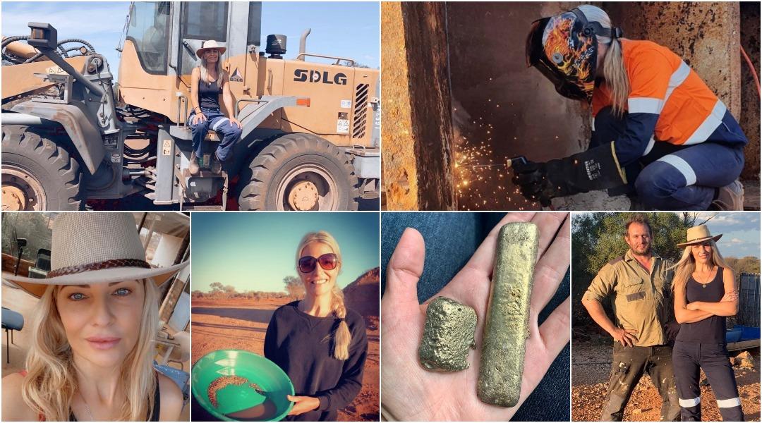 Городская девушка бросила работу, чтобы работать на золотом прииске, зарабатывая шестизначные цифры