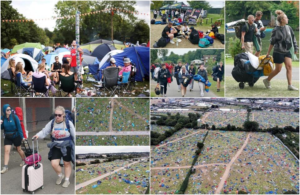 Грязное нижнее белье и использованные презервативы: сборщики мусора начали уборку после фестиваля