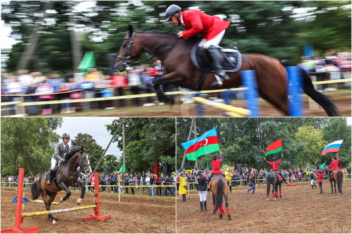 Скачки, джигитовка и конкур: в Бобруйском районе прошел фестиваль грации и красоты лошадей