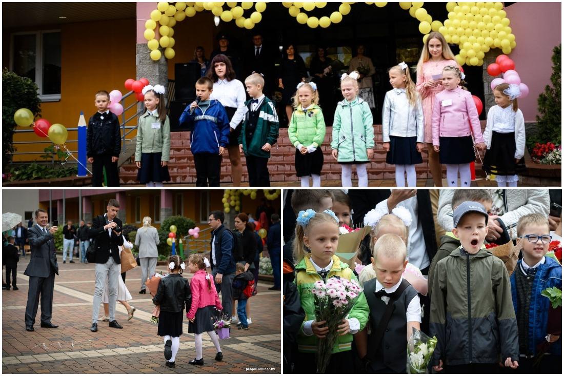 Праздник с цветами и дождем: 1 сентября в минской школе №26