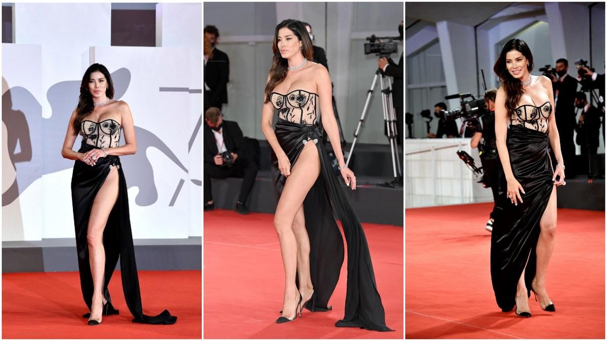 Айда Йеспица в сексуальном платье