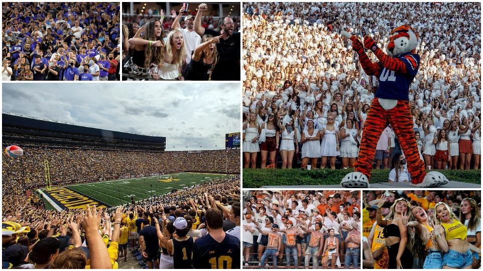 Болельщики стекаются на стадионы колледжей по всей Америке без масок и социальной дистанции