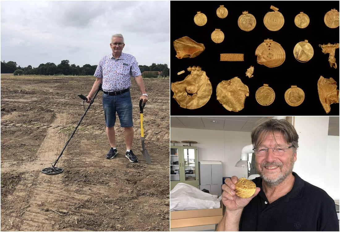 Новичкам везет: кладоискатель из Дании впервые взял металлоискатель в руки и нашел золото викингов
