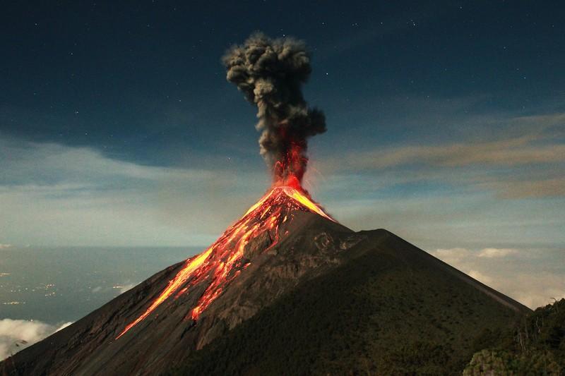 Крупнейшие извержения вулканов всех времён