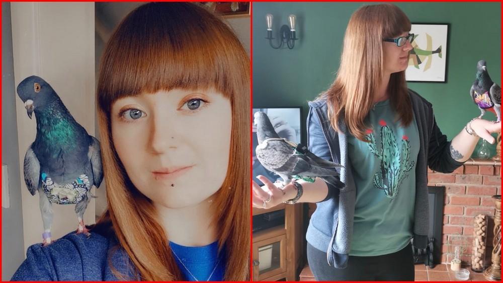 Девушка потратила за год £4000 на наряды для голубей