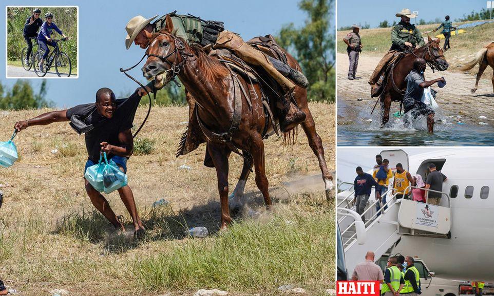 Пограничные агенты на лошадях разгоняют гаитянских мигрантов