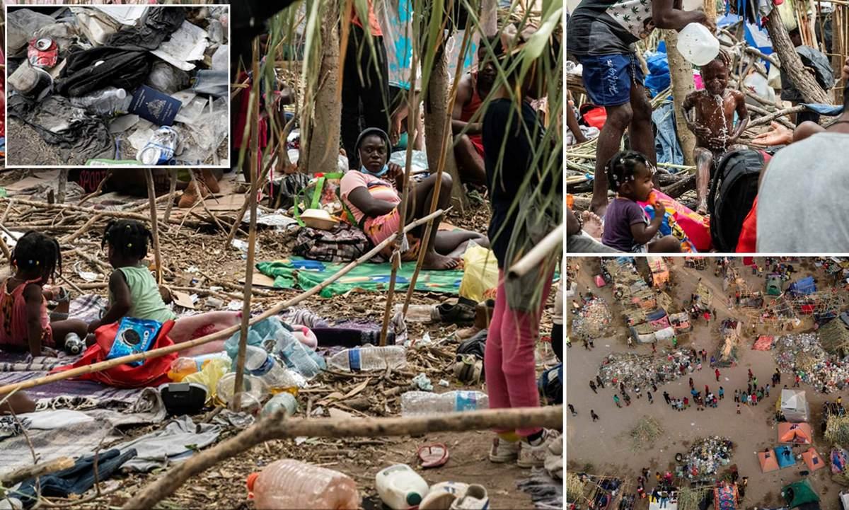 Гаити приезжает в Техас: ужасные условия в лагере беженцев под мостом Дель Рио