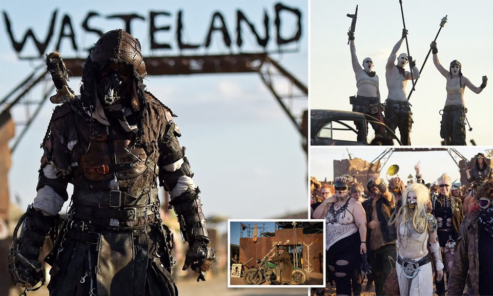 Тысячи поклонников Безумного Макса отправились в пустыню Мохаве на постапокалиптический фестиваль