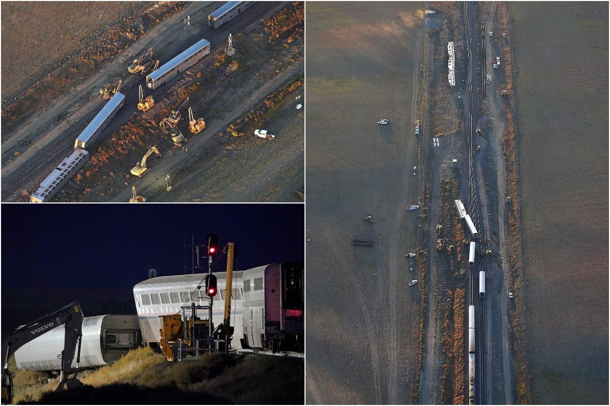 Три человека погибли и десятки пострадали: поезд сошел с рельсов в США