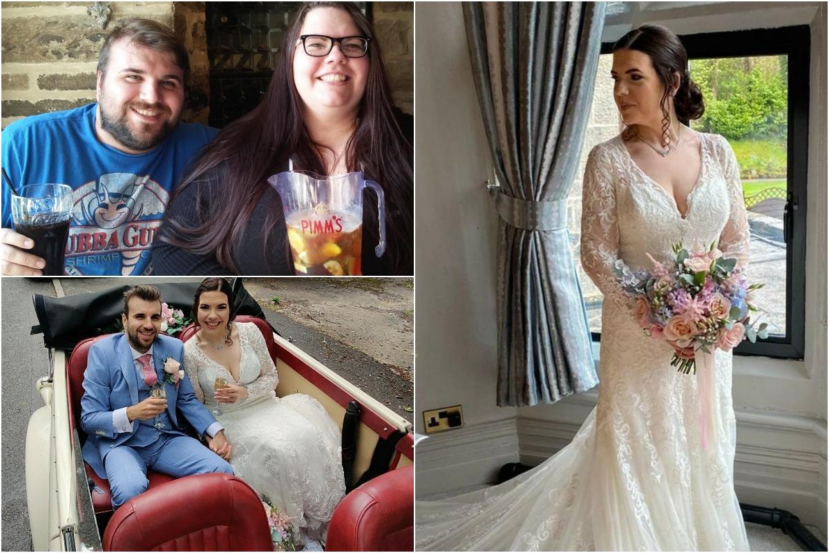 Влюбленные встречались 15 лет, похудели на 133 килограмма на двоих и поженились