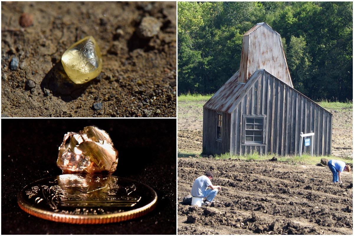 Американская пара нашла алмаз во время прогулки по парку в Арканзасе