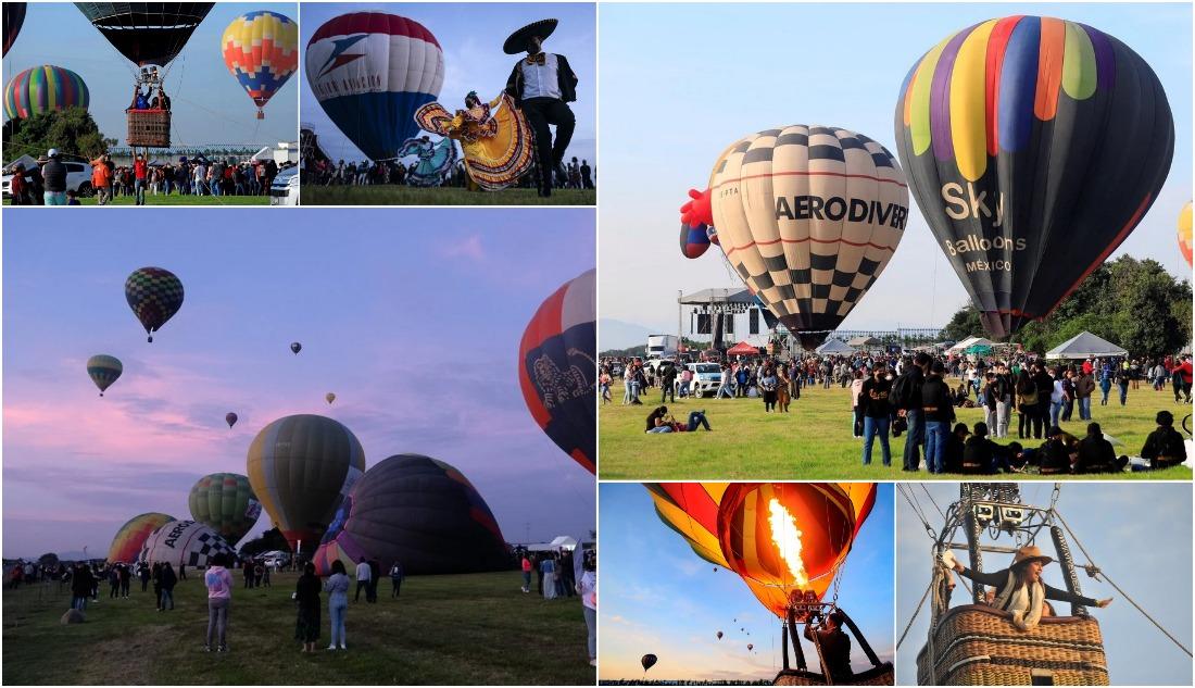 Воздушные шары поднялись в небо мексиканского города Пуэбла