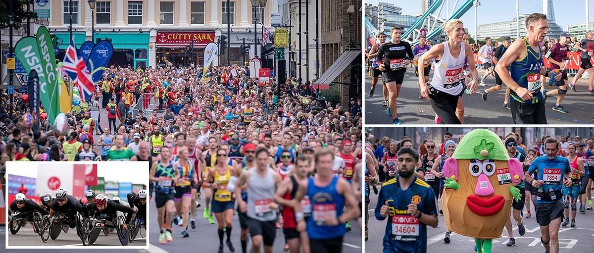 Лондонский марафон 2021 года: 40 000 бегунов пробежали по улицам столицы