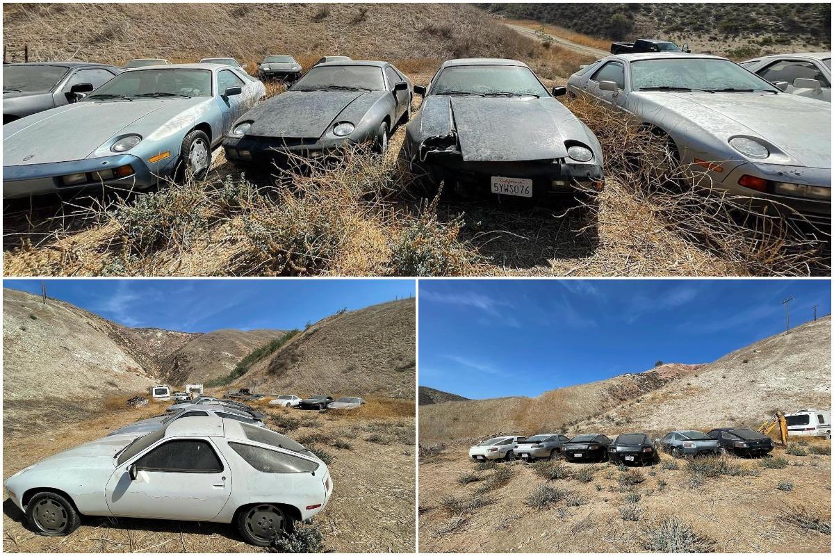 13 стареньких Porsche 928 кто-то выбросил в Калифорнии