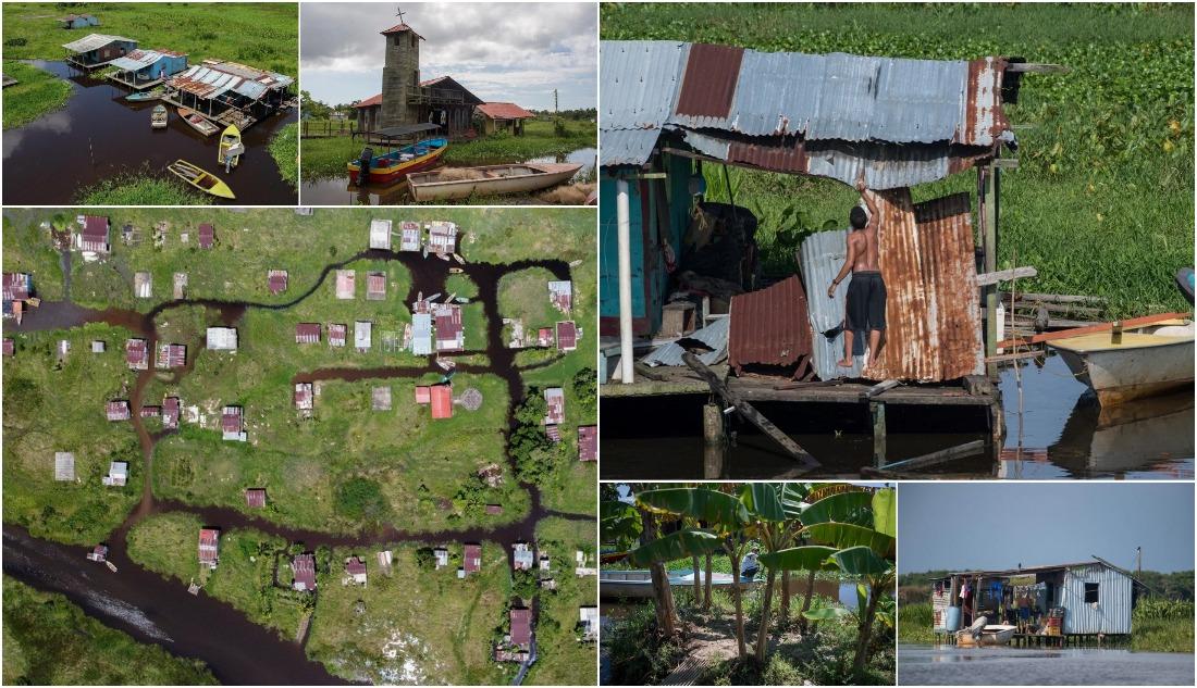 Плавучая деревня в Венесуэле умирает из-за грязи
