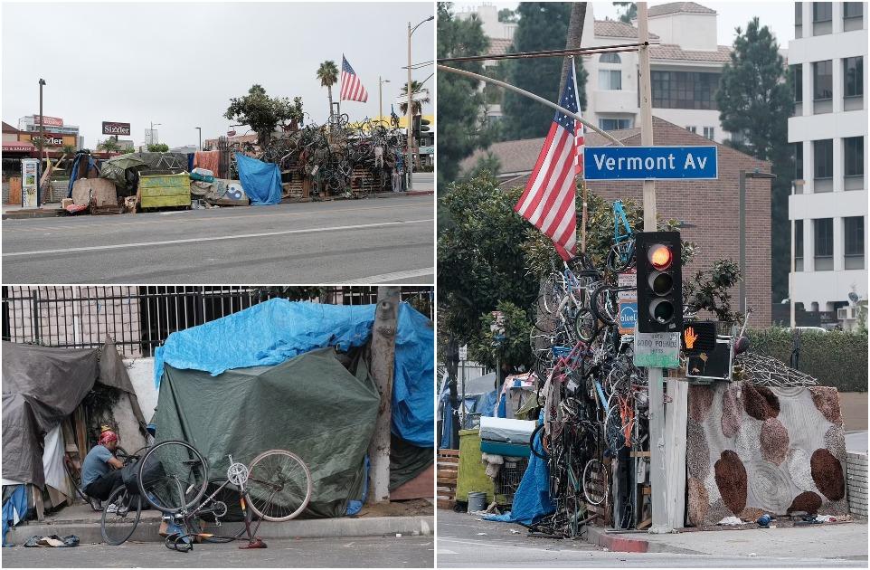 Кризис в Корейском квартале: лагерь бездомных в оживленном районе Лос-Анджелеса