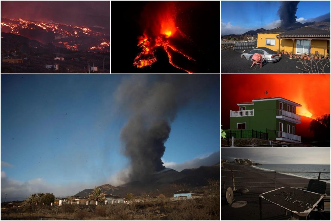 Вулкан Кумбре Вьеха продолжает извергаться на испанском острове Пальма