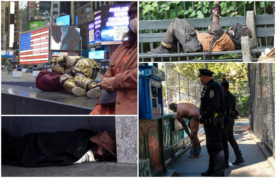 Нью-Йорк поражен волной бездомной преступности, поскольку бродячее население удваивается за 10 лет