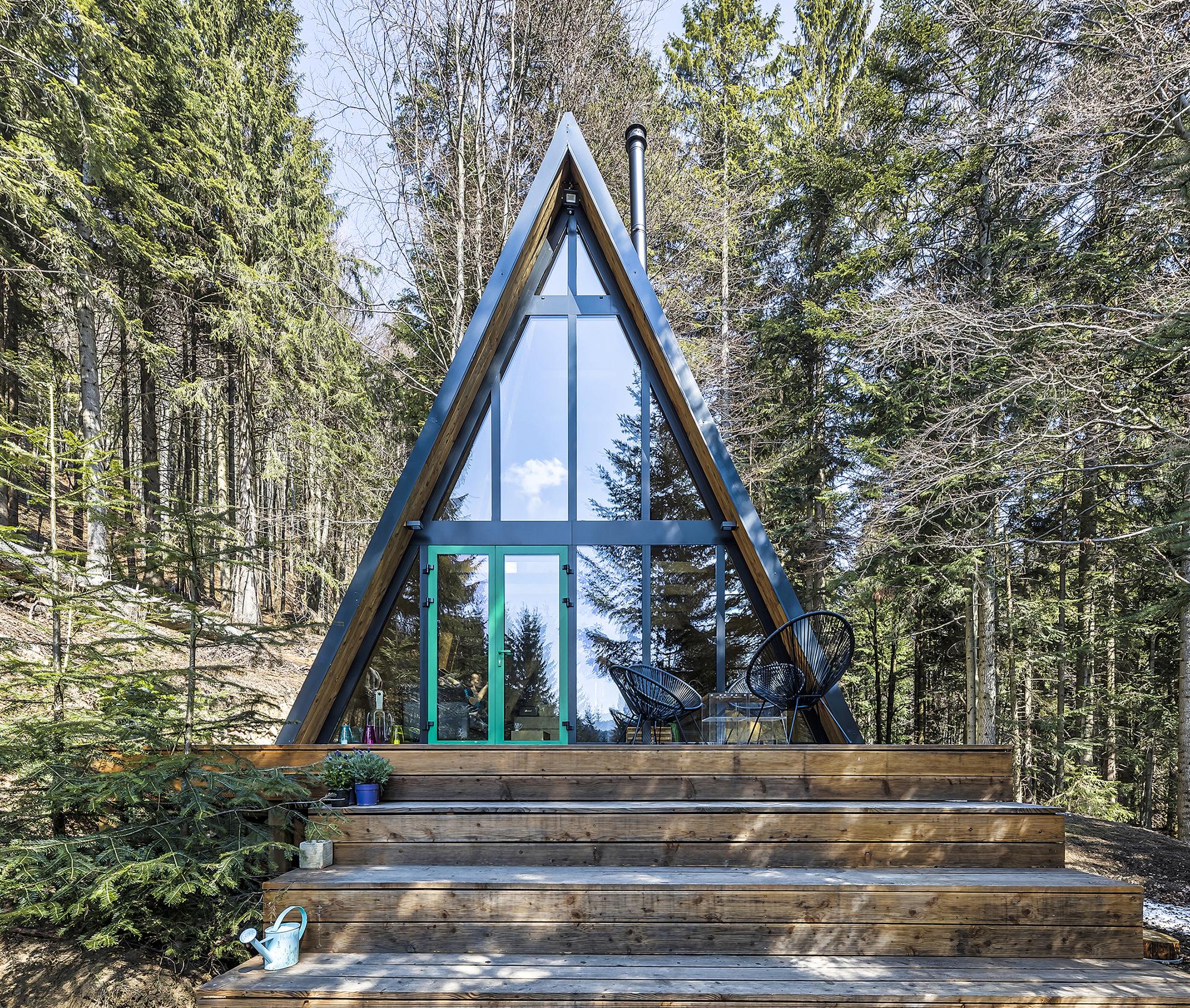 Деревянное шале на живописном лесном склоне в Словакии