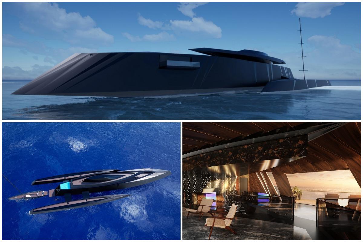 70-метровую двухэтажную яхту в стиле Джеймса Бонда продадут за 100 миллионов евро