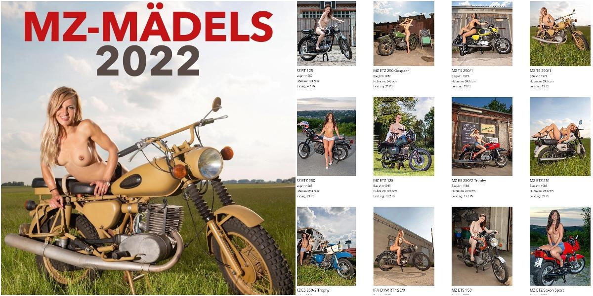 "Девушки и мотоциклы в календаре ""MZ-Madels 2022"""