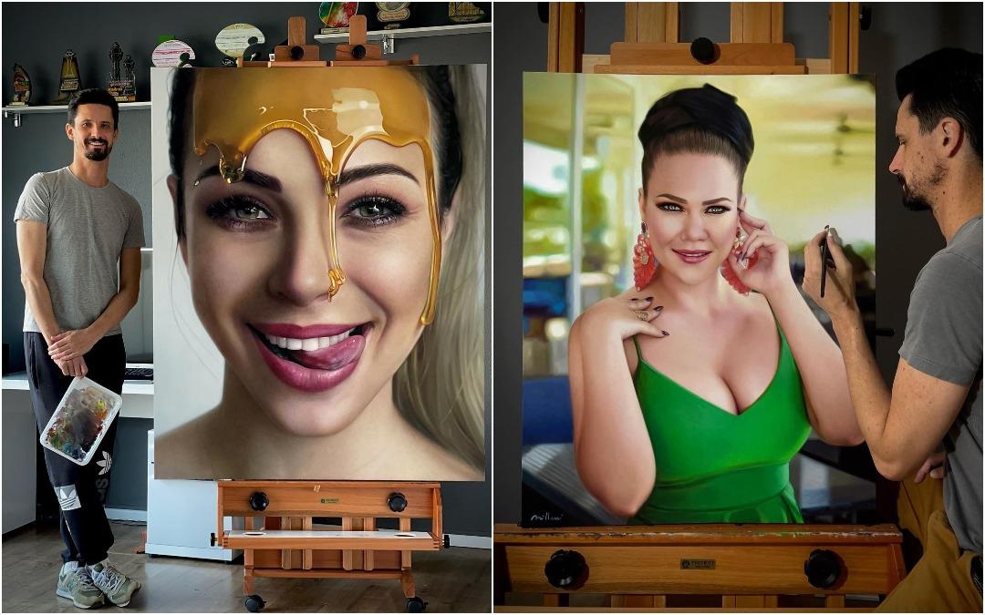 Бразильский художник пишет реалистичные портреты, похожие на фотографии