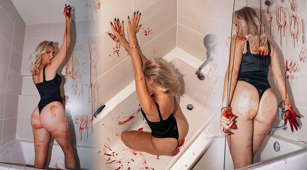 Джордин Джонс в фотосессии к Хэллоуину