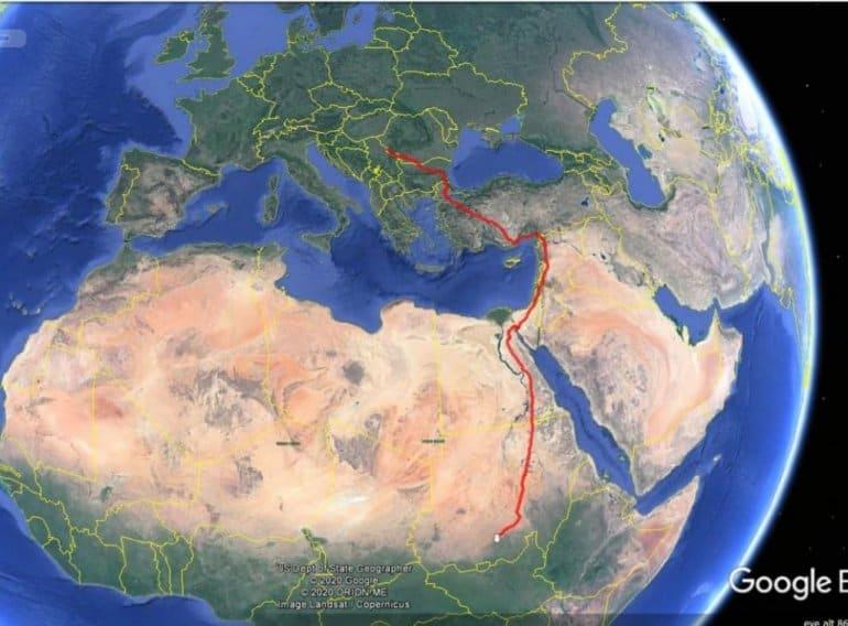 Пут миграције.Путь миграции.