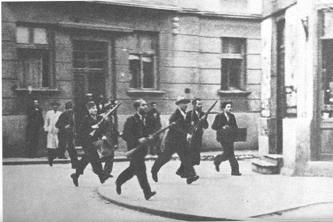 Устаници у Београду.