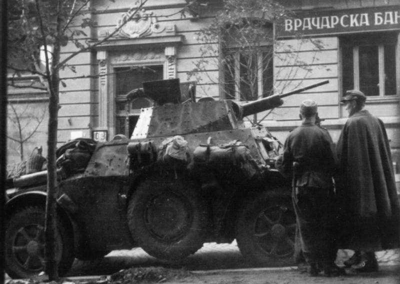 Партизанско борбено возило на положају.Вероватно италијани