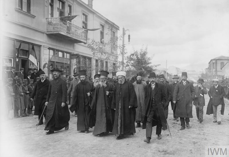 Верски поглавари у ослобођеном Скопљу.
