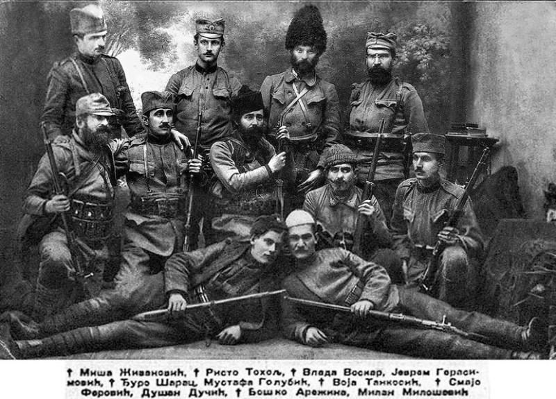 Четничке војводе у балканским ратовима.