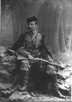 Краљ Петар Карађорђевић у време када се као Петар Мркоњић борио против Аустро-угара.
