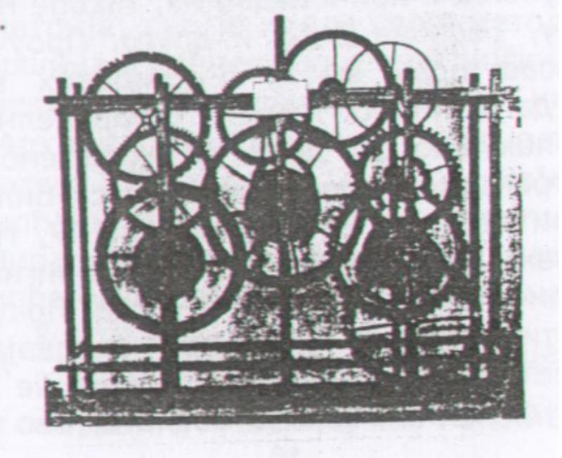 Механизам првог сата у Кремљу.