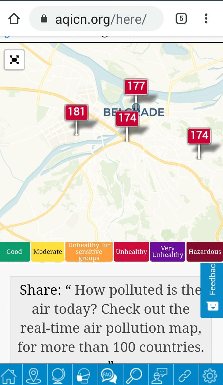 12:00,  град се не види због загађења!