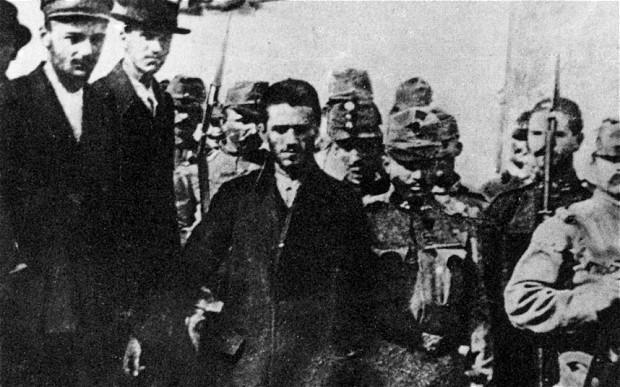 Спровођење гаврила Принципа, Сарајево 1914.