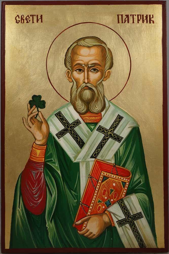 Православна икона Светог Патрика Ирског.